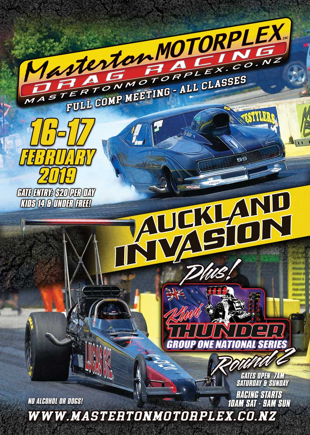 2019 Auckland Invasion poster